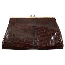 1930's Genuine crocodile & bakelite pochette purse