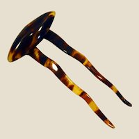 Beautiful Edwardian faux tortoise shell comb