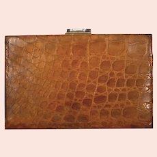 1930'S Light brown genuine alligator case