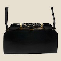 1930's Art Deco. Genuine lizard and bakelite (tested) purse
