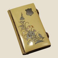 1889 celluloid, silver, gold & mother of pearl inlaid,  Belgian missal