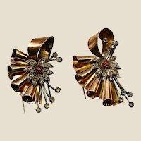 Great Art Deco 1930/40 vermeil 18k, 900 silver, dress