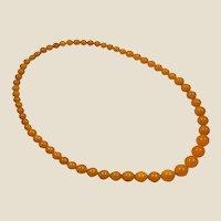 Antique 1930's amber egg yolk, bakelite (tested) necklace