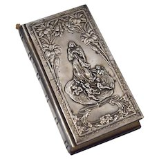 Art Noveau 800 silver lids prayer book