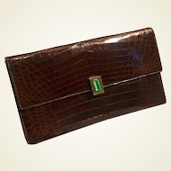 Great 1930/ 40s Genuine alligator & bakelite Pochette purse