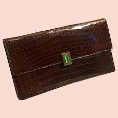 Great 1930/ 40s Genuine alligator & bakelite Pochette purse