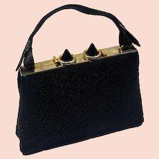 Big 1930's Galalith & Leather bag