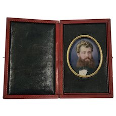 Oil miniature portrait of a Gentleman by Walter Ferris Biggs