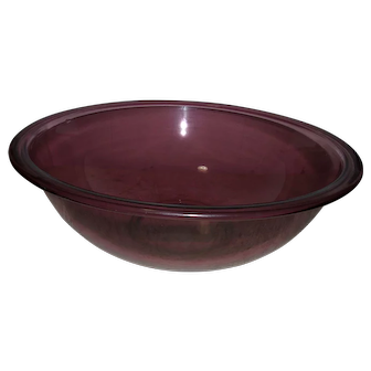 Pyrex Cranberry Mixing Bowl Nesting Glass 4L 326