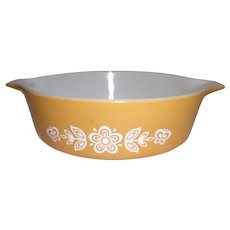 Pyrex 471  1 Pint Butterfly Gold Casserole Dish W/out lid