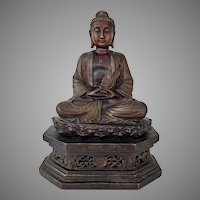 A large Chinese Bronze Figure Of Amitabha Buddha 19th - 20th century