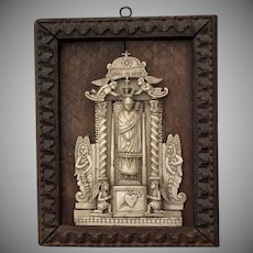 Antique 17th-18th Century Indo – Portuguese Relief Our Lady of Loreto Goa India