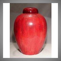Large Antique William Moorcroft Flambé Ginger Jar Vase Dated 1939