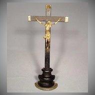 Antique Spanish Crucifix Baroque, 17th Century