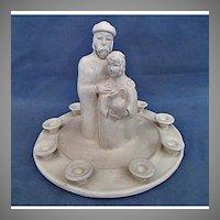 Jewish Hanukkah Menorah Porcelain sculpture by Bailey Stern Leslie