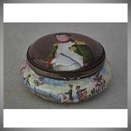 Antique Austrian  Viennese Silver Enamel Napoleonic Snuff Box with Napoleon by Herman Boehm Wienna
