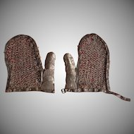 Antique 17th century Polish Hussar Karacena Armor Mail Mittens