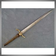 Antique 18th century Plug Bayonet for Military Musket Gun