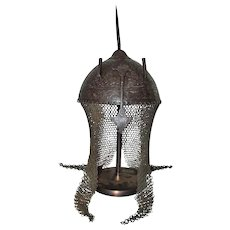 Antique 18th Century Islamic Mughal India Indo Persian Helmet Kulah-Khud