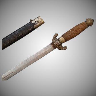 Antique Chinese Sword Jian 劍 Qing Dynasty 19th Century China