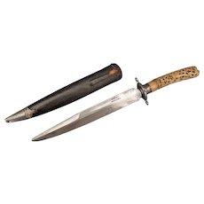 Antique Victorian Colonial Hunting Knife Dagger With Burmese /Thai Dha Daab Dah Hilt