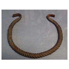Ancient Celtic Bronze Torc Torque 7th-3rd century BC
