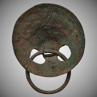 Ancient Roman Large Bronze Lion Head Handle Circa 2nd Century AD