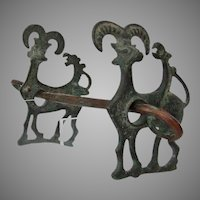 An Ancient Luristan Bronze Horsebit Circa 9th-7th century B.C.