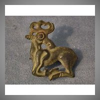 Ancient Scythians bronze fibula in the shape of a deer 6th-4th century BC