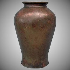 Antique Japanese Showa Period Large Bronze Vase With Murashido Patina