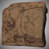 Antique Pre-Columbian Aztec Ceramic stamp seal ca 1000-1500 AD