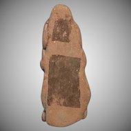 Antique Pre-Columbian Mayan Terracotta Head 200 AD to 600 AD