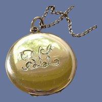 Antique Monogrammed Gold Filled Locket