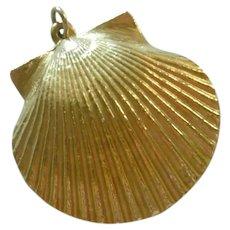 Gold Plated Seashell Pendant