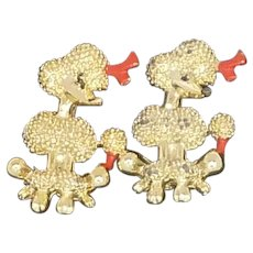 Gold Tone Scatter Poodle Pin Set