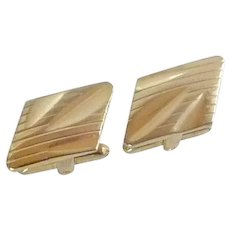Hickok Gold Tone Cufflinks Cuff Links