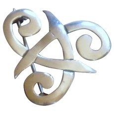 Celtic Knot Silver Tone Pin
