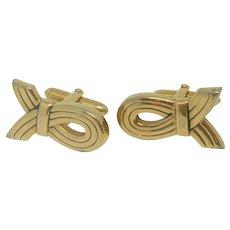Swank Gold Tone Cuff Links Cufflinks