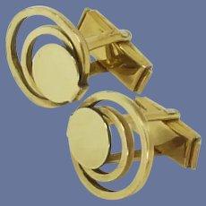 Na Mass Gold Filled Spiral Cuff Links Cufflinks