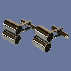 Silver Tone Barrel Cufflinks  Cuff Links