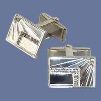 Sterling Silver Rectangular Cuff Links Cufflinks