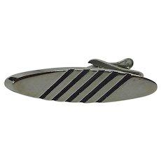 Silver Tone Alligator Tie Bar Clip