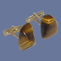 Tiger Eye Rock Cuff Links Cufflinks