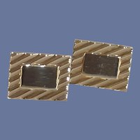 Swank Rectangular Gold Filled Cuff Links Cufflinks