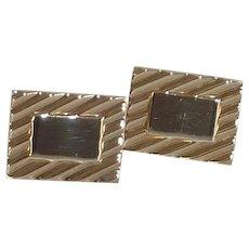 Swank Rectangular Gold Filled Cuff Links Cufflinks