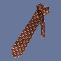 Enrico Coveri Burgundy Brown Silk Tie