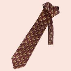 Enrico Coveri Burgundy Brown Silk Tie
