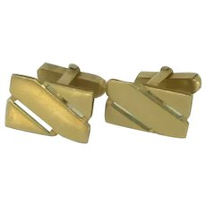 Swank Rectangular Gold - Filled Cuff Links Cufflinks