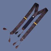 Whirlwind Brown on Purple Men Suspenders Braces