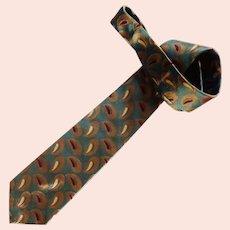 Christian Dior Silk Tie Made in the USA Aqua Blue